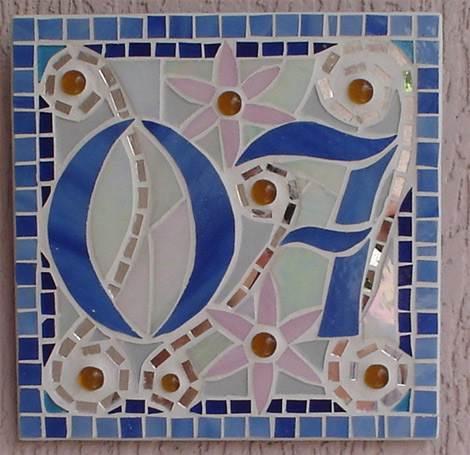 Número em mosaico para residência (20×20 cm)