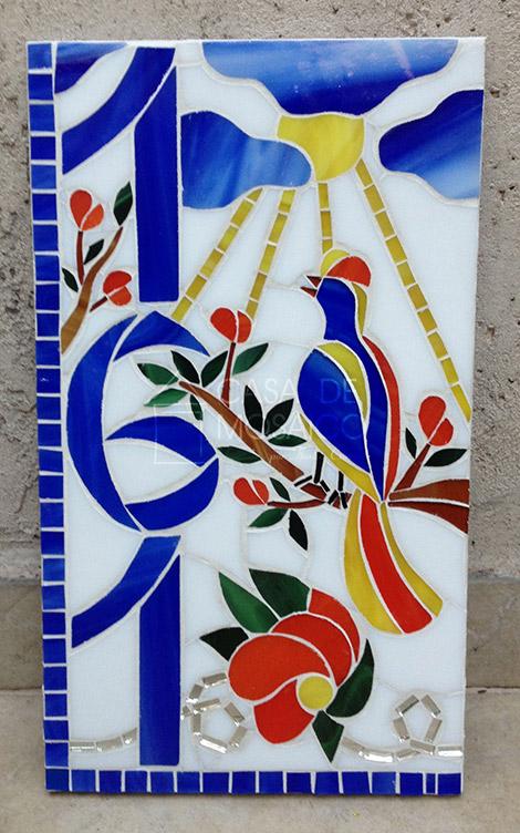 Número em mosaico para residência (31X16 cm)