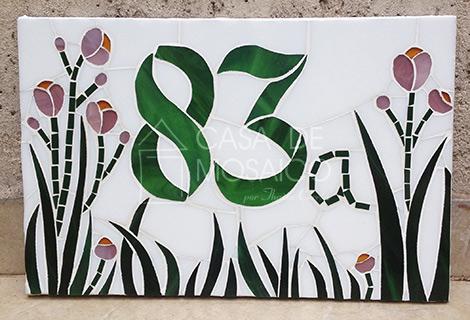 Número em mosaico para residência (30×20 cm)