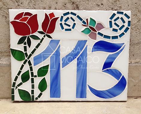 Número em mosaico para apartamento (15×20 cm)