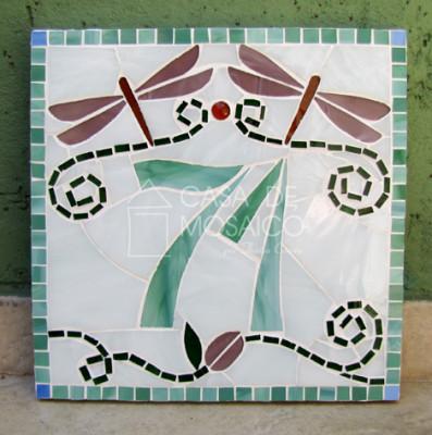 Número em mosaico para residência (25X25 cm)