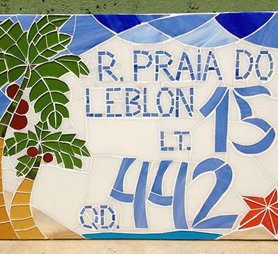 Número em mosaico para residência (30x40 cm)