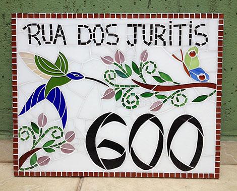 Número em mosaico para residência (35×45 cm)