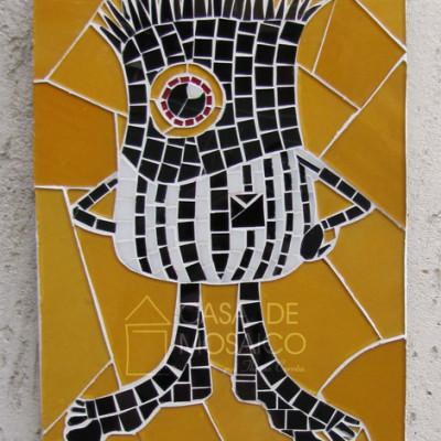 Porta-chaves com logotipo em mosaico