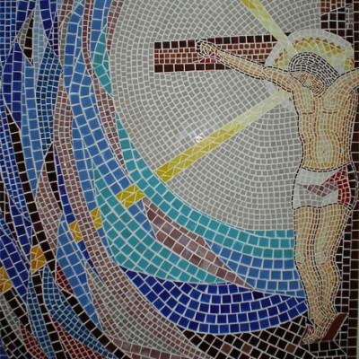 Quadro Estação XII da Via Sacra: Morte na cruz
