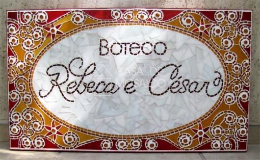 Placa personalizada para decoração de casamento