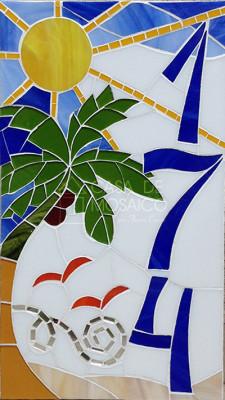 Número em mosaico para residência (20x35 cm)