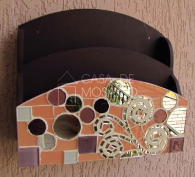 Porta-cartas organizador de mosaico