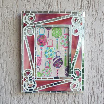 Porta-retrato de mosaico