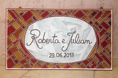 Quadro personalizado em mosaico