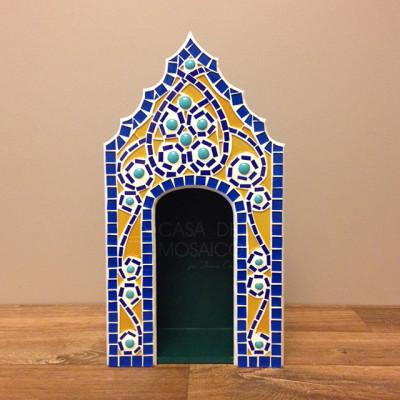 Oratório para santo em mosaico de vidro