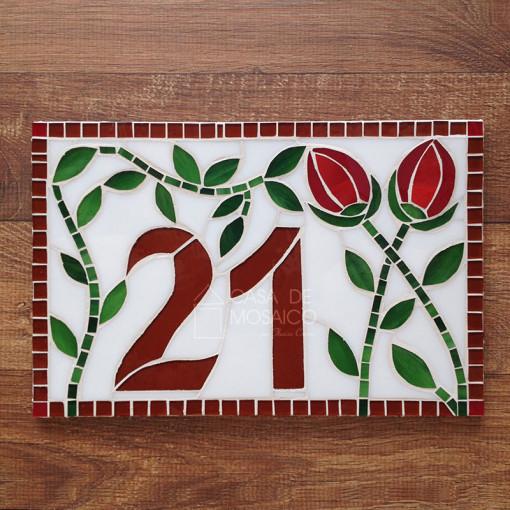 Número de mosaico de 30x20cm