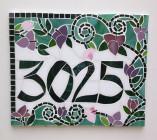 Número de mosaico – 30 x 25cm