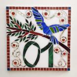 Número em mosaico para residência (30×30 cm)