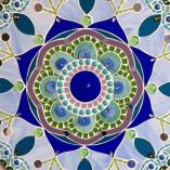 Detalhe da Mandala de mosaico de vidro