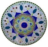 Mandala de mosaico de vidro sem chatons