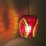 Luminária de mosaico de vidro