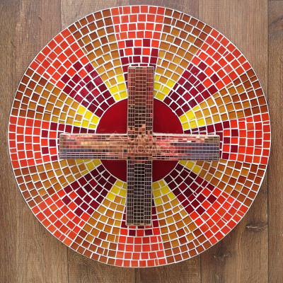 Porta de sacrário em mosaico para capela