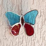 Móbile de borboleta em vidro