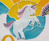 Quadro de maternidade em mosaico de vidro
