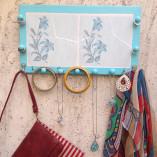 Cabideiro de mosaico de azulejo