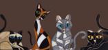 Espelho de gatos de mosaico