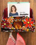 Organizador de cartas, temperos ou livros com coruja em mosaico de vidro