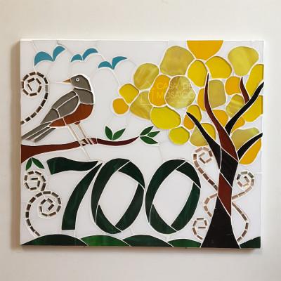 Número em mosaico para residência (30x35 cm)