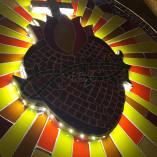 Porta de sacrário em mosaico de vidro – Sagrado Coração de Jesus