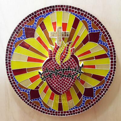 Sacrário de mosaico completo com Sagrado Coração de Jesus