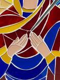 Quadro de mosaico de Nossa Senhora das Dores