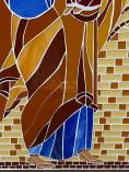 Quadro em mosaico de São José e Menino Jesus